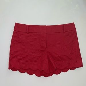 """Loft Outlet Coral Scalloped 4"""" Shorts NWT"""